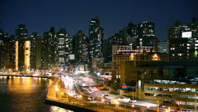 Rush hour traffic on FDR drive stock footage