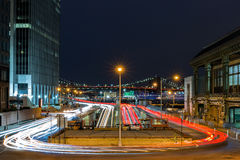 Rush-hour traffic on the FDR drive Stock Photos
