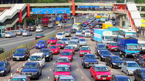 Rush hour traffic in hong kong stock video