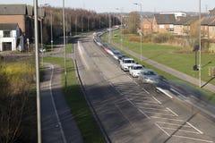 Rush Hour Traffic. Long Exposure Photo Of Morning Rush Hour Traffic Stock Photos