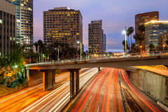 Rush Hour Traffic in Los Angeles Stock Photo