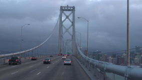 Rush hour Traffic on Oakland Bay Bridge San Francisco, California stock video footage