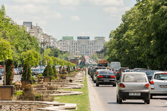 Rush Hour Traffic On Unification Boulevard Royalty Free Stock Photography