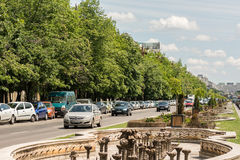Rush Hour Traffic On Unification Boulevard Stock Image
