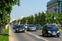 Rush Hour Traffic In Union Square Piata Unirii In Bucharest Stock Photography