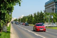 Rush Hour Traffic In Union Square Piata Unirii In Bucharest. BUCHAREST, ROMANIA - MAY 19, 2015: Rush Hour Traffic In Union Square Piata Unirii one of the busiest Stock Images
