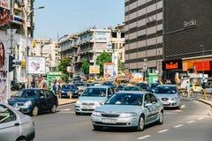 Rush Hour Traffic In Union Square Piata Unirii In Bucharest Royalty Free Stock Image