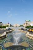 Rush Hour Traffic In Union Square Piata Unirii In Bucharest Stock Photo