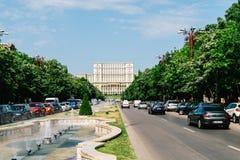 Rush Hour Traffic In Union Square Piata Unirii In Bucharest Stock Photos