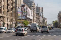 Rush Hour Traffic In University Square Of Bucharest Royalty Free Stock Images