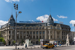Rush Hour Traffic In University Square Of Bucharest Stock Image