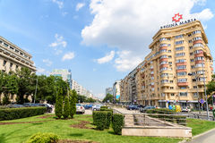 Rush Hour Traffic On Victory Square In Bucharest Royalty Free Stock Images
