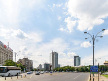 Rush Hour Traffic On Victory Square In Bucharest Royalty Free Stock Photo