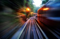 Rush hour in a train Stock Photo
