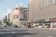 Rush Hour In Union Square Downtown Of Bucharest City Royalty Free Stock Photos