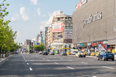 Rush Hour In Union Square Downtown Of Bucharest City Royalty Free Stock Photo