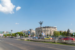Rush Hour In Union Square (Piata Unirii) Of Bucharest Stock Image