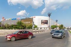Rush Hour In Union Square (Piata Unirii) Of Bucharest Royalty Free Stock Photo