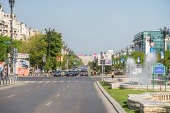 Rush Hour In Union Square (Piata Unirii) Of Bucharest Stock Images