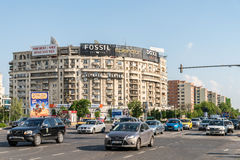 Rush Hour In Union Square (Piata Unirii) Of Bucharest Royalty Free Stock Photography