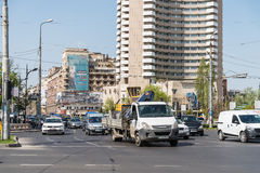 Rush Hour In University Square Downtown Of Bucharest City Royalty Free Stock Photography