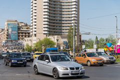 Rush Hour In University Square Downtown Of Bucharest City Stock Photography