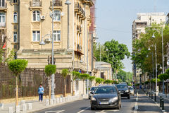 Rush Hour On Victory Avenue (Calea Victoriei) In Bucharest Royalty Free Stock Photo
