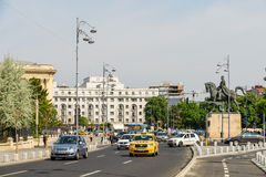 Rush Hour On Victory Avenue (Calea Victoriei) In Bucharest Stock Image