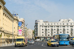 Rush Hour On Victory Avenue (Calea Victoriei) In Bucharest Stock Photo