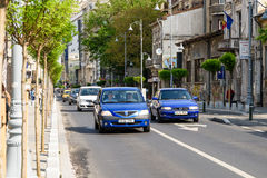 Rush Hour On Victory Avenue (Calea Victoriei) In Bucharest Royalty Free Stock Image