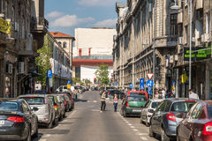 Rush Hour On Victory Avenue (Calea Victoriei) Royalty Free Stock Photo