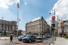 Rush Hour On Victory Avenue (Calea Victoriei) Royalty Free Stock Images