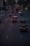 Rush hourr traffic in the city Stock Photos