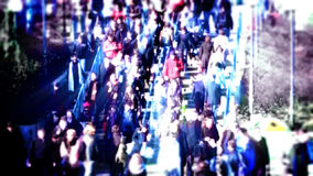 Rush hours in the city. Timelapse. People in the crowded city centre stock footage