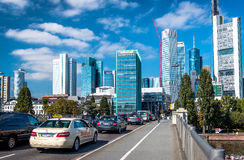 Rush hours in Frankfurt am Main city. Germany Stock Photo