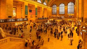 Rush hours in Grand Central station, opened in 1871. stock footage