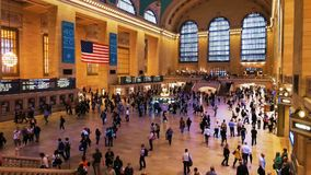 Rush hours in Grand Central station, opened in 1871. stock video footage
