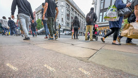 Rush hours. At Oxford Street. London, United Kingdom Stock Images