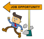 Rush for a job Stock Images