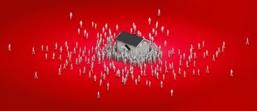 Coveted real estate stock illustration