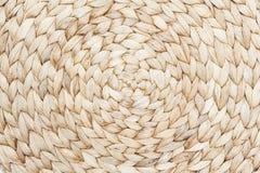 Rush mat background. Detail of textured rush mat Stock Photo