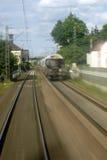Rush passing freight train Royalty Free Stock Photo
