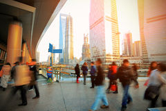 The rush of  people on flyover Royalty Free Stock Images