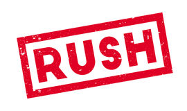 Rush rubber stamp Royalty Free Stock Photos