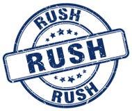 Free Rush Stamp Royalty Free Stock Image - 106508116