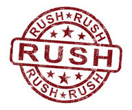 Rush Stamp Shows Speedy Urgent Delivery. Rush Stamp Shows Speedy Urgent Express Delivery Royalty Free Stock Image