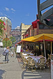 Rush Street in Chicago. May be used for an ad to advertise for Rush Street and its restaurants Stock Images