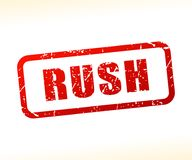 Rush text stamp. Illustration of rush text stamp Royalty Free Stock Photography