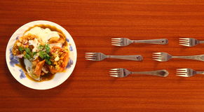 Rush to dine. Royalty Free Stock Image