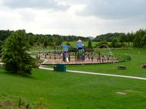 Rushcliffe country park. Play park within rushcliffe country park in Nottinghamshire Stock Image